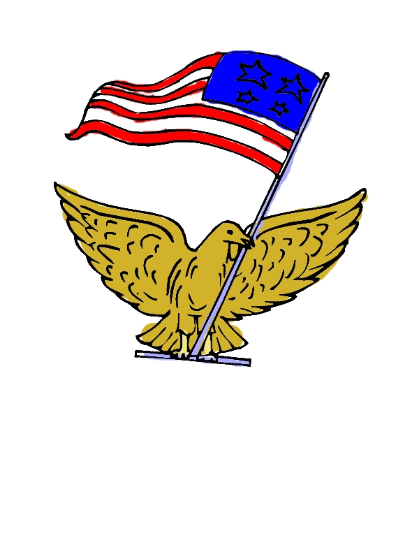 A Pigeon with US Flag Celebrating Veterans Day Coloring Page by years old Benny T  Mears