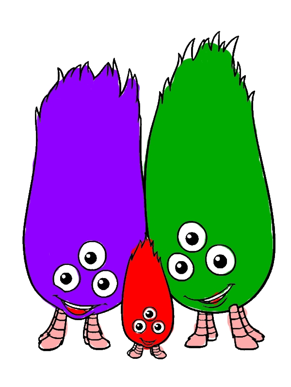 Alien Happy Family Friend of Chicken Little Coloring Pages by years old Terry R  Simmons
