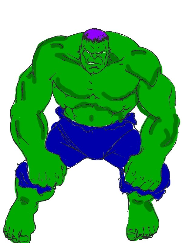 Awesome Hulk Picture Coloring Page by years old Mary M  Newton