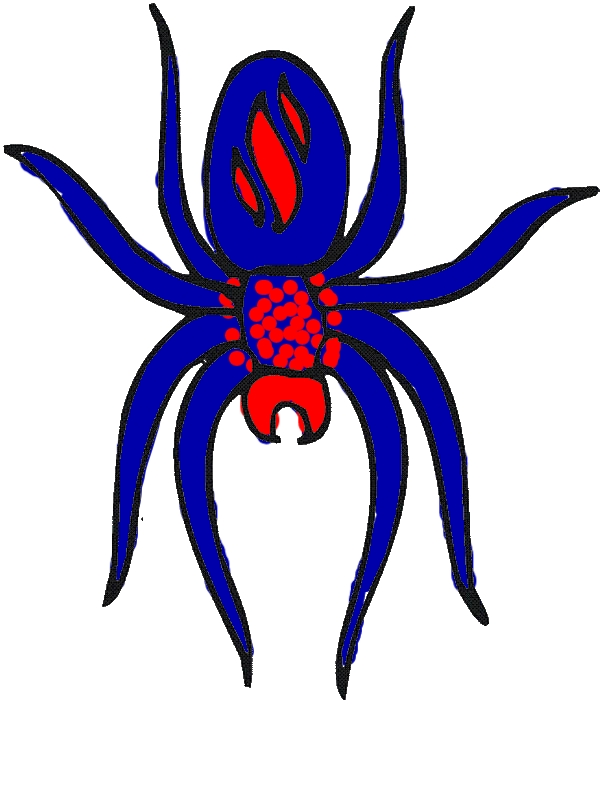 Awesome Spider Picture Coloring Page by years old Fred S  Surface