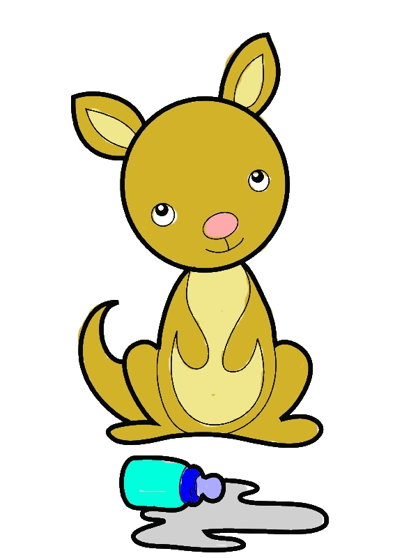 Baby Kangaroo Coloring Page by years old James B  Parise