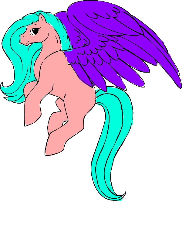 Beautiful Pegasus Coloring Page by years old Luz J  Dunn