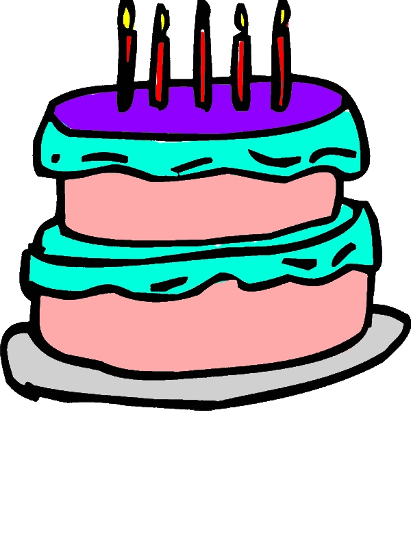 Birthday Cake Outline Coloring Pages by years old Leonard F  Barnard