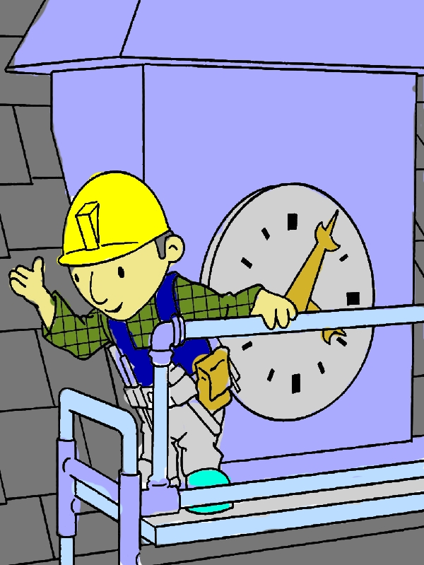 Bob the Builder Doing Clock Tower Maintenance Coloring Pages by years old Tiffany A  Hutchings