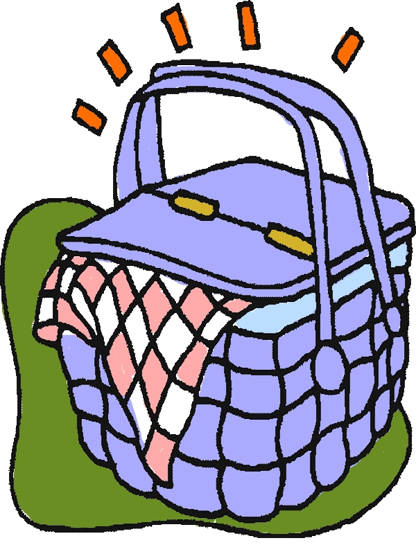 Brand New Picnic Basket Coloring Page by years old Jill J  Fitch