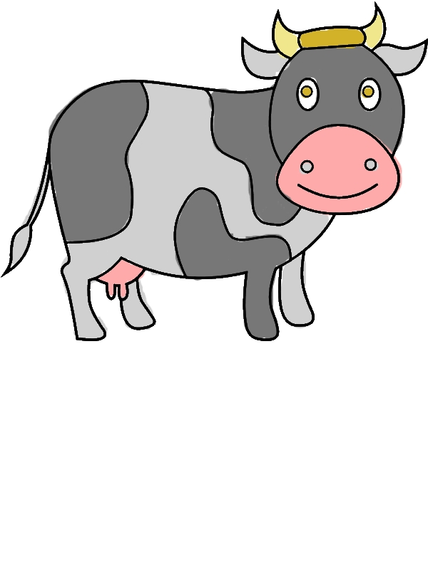 Chibi Dairy Cow Coloring Pages by years old Mark P  Brewer