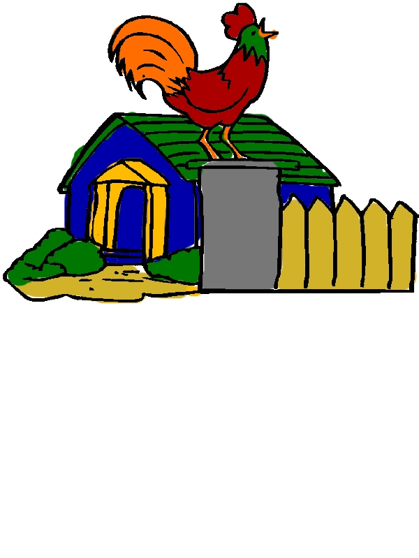 Chicken Coop and Crowing Rooster Coloring Pages by years old Tiffany S  Brown