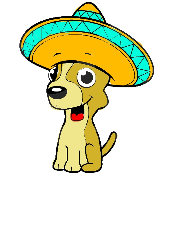 Chihuahua Dog Sitting and Wearing a Sombrero Coloring Pages by years old Jerry B  Clifton