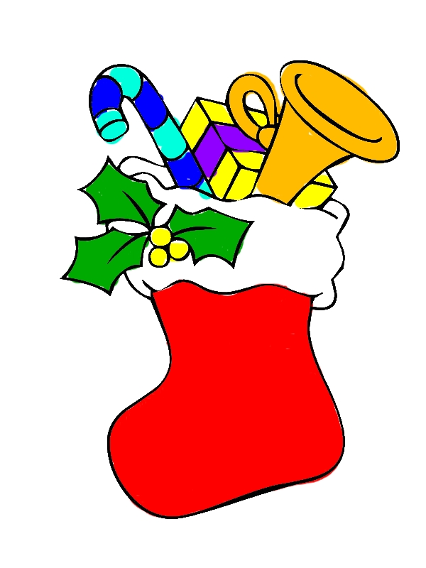 Christmas Stockings Full of Christmas Gifts Coloring Pages by years old Geraldine J  Workman