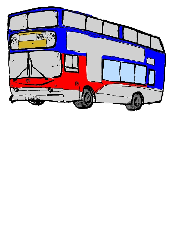 City Bus Sketch Coloring Pages by years old June A  Bradfield