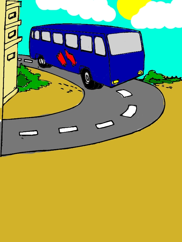 City Bus Turning Around Coloring Pages by years old Donald D  Cooksey