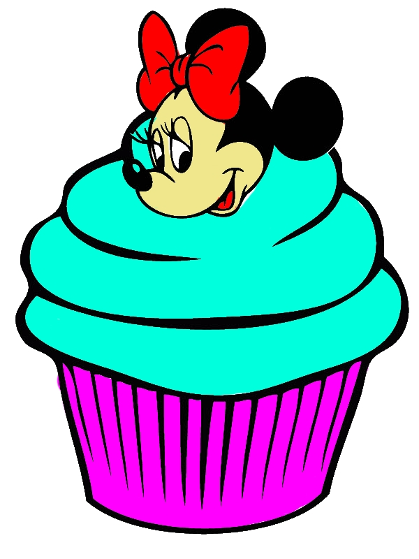 Cute Minnie Mouse Cupcake Coloring Page by years old Pamela J  Aragon