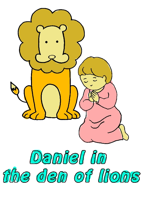 Daniel Prostrated in Front of God in Daniel and the Lions Den Coloring Page by years old Maria D  Pool