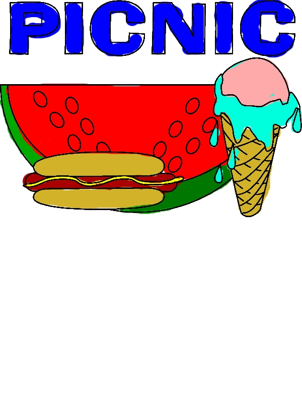 Delicious Food for Picnic Coloring Page by years old Jessica J  Suarez