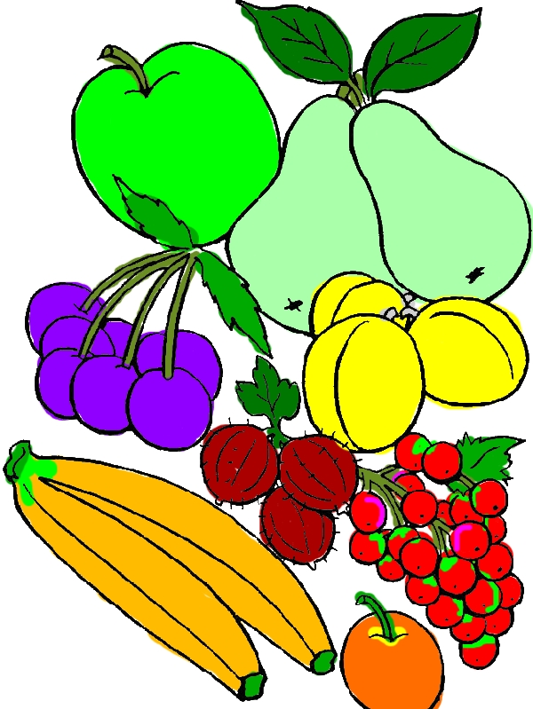 Delicious Fruit Coloring Page by years old Hailey G  Reed