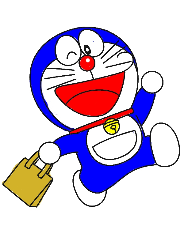 Doraemon Goes Shopping Coloring Pages by years old Deborah R  Harder