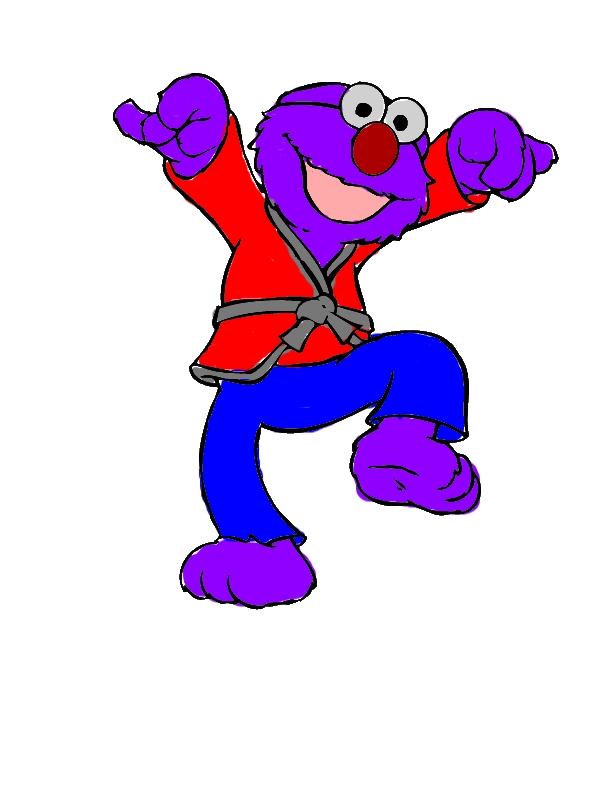 Elmo the Karate Kid Coloring Page by years old Mary J  Rodriguez