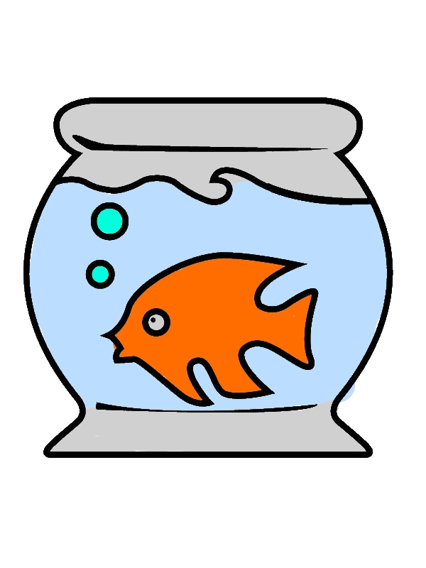 Fish Tank and Little Fish Inside Coloring Page by years old Victoria S  Courtney