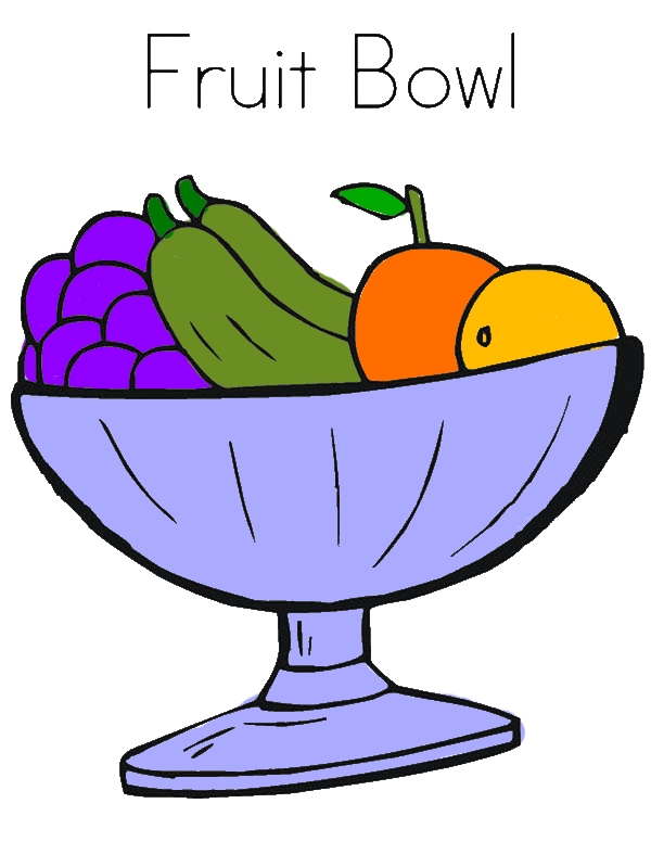 Fruit Bowl Coloring Page by years old Jesse M  Luken