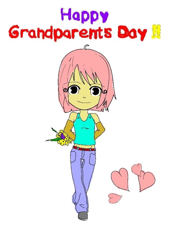 Happy Gran Parents Day Mommy Coloring Page by years old Anita F  Little
