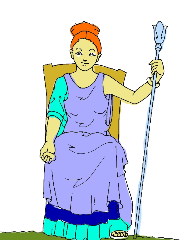 Hera from Greek Gods and Goddesses Coloring Page by years old John M  Grove