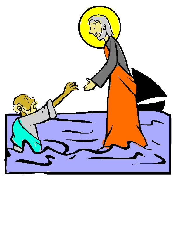 Jesus Walking on the Water is Miracles of Jesus Coloring Page by years old Joseph E  Mueller