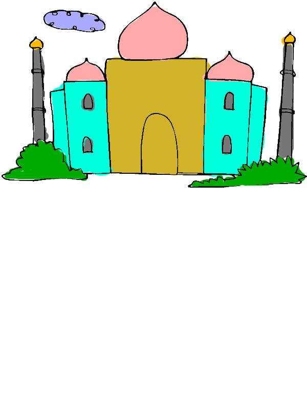 Kids Drawing of Taj Mahal Coloring Page by years old Dennis M  Jackson
