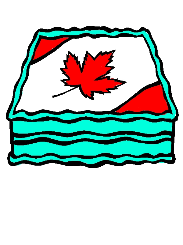 Memorable Canada Day Cake Decoration Coloring Pages by years old Kevin N  Force