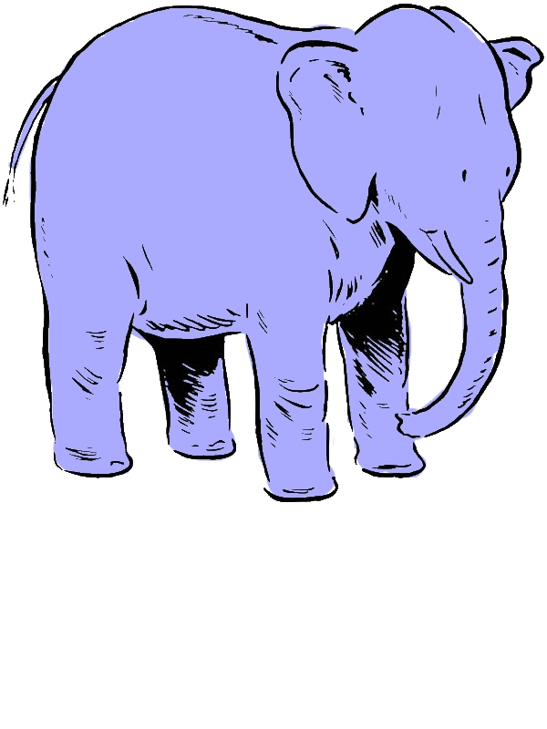 Mother of Elephant Coloring Page by years old Rebecca O  Adair