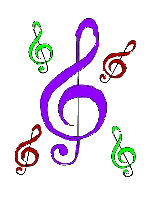 Mother of Treble Clef Coloring Page by years old Jane J  McCord