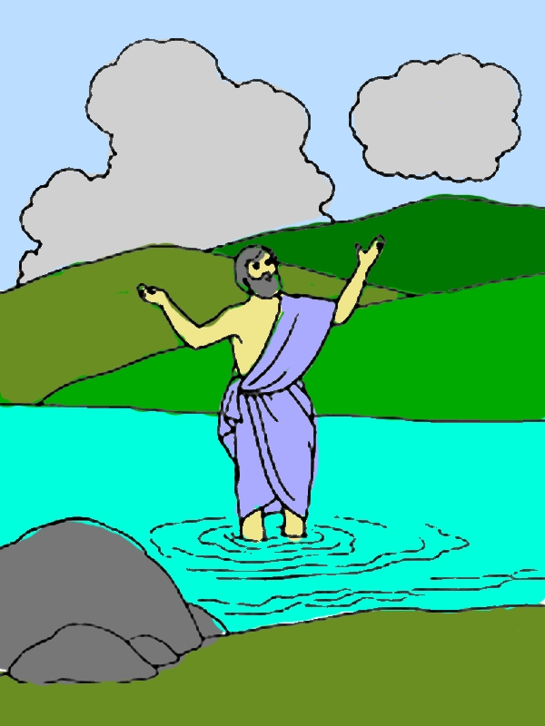 Picture of John the Baptist Coloring Page by years old Grace M  Pierce