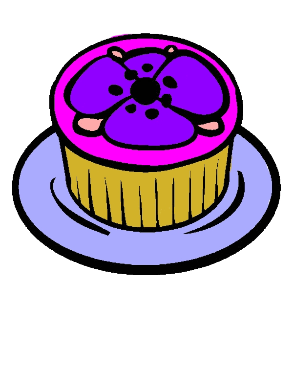Poppy Theme Cupcakes Coloring Pages by years old Pamela F  Gutierrez