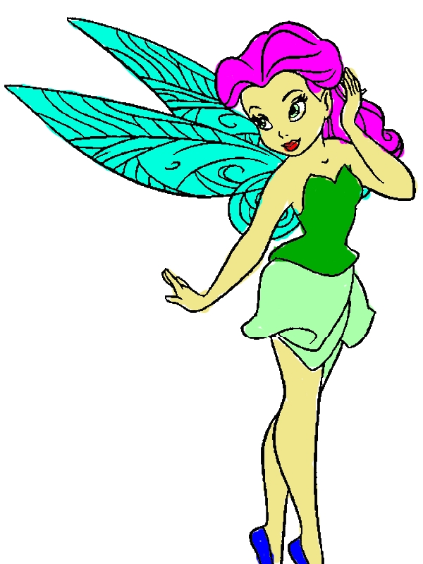 Pretty Rosetta Pixie Coloring Page by years old Eddie S  Reinhardt