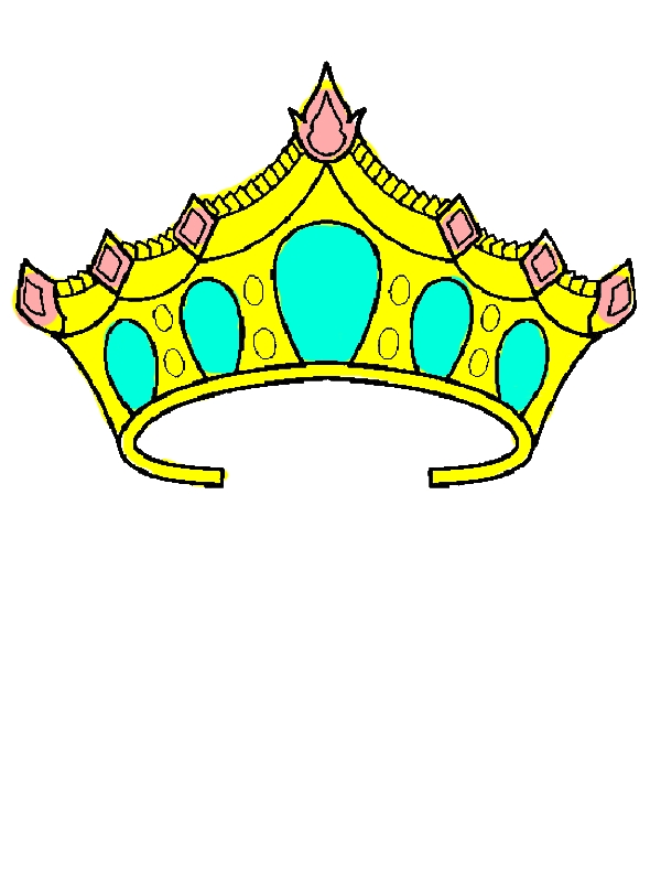 Princess Crown Coloring Pages by years old Patricia B  Palmer