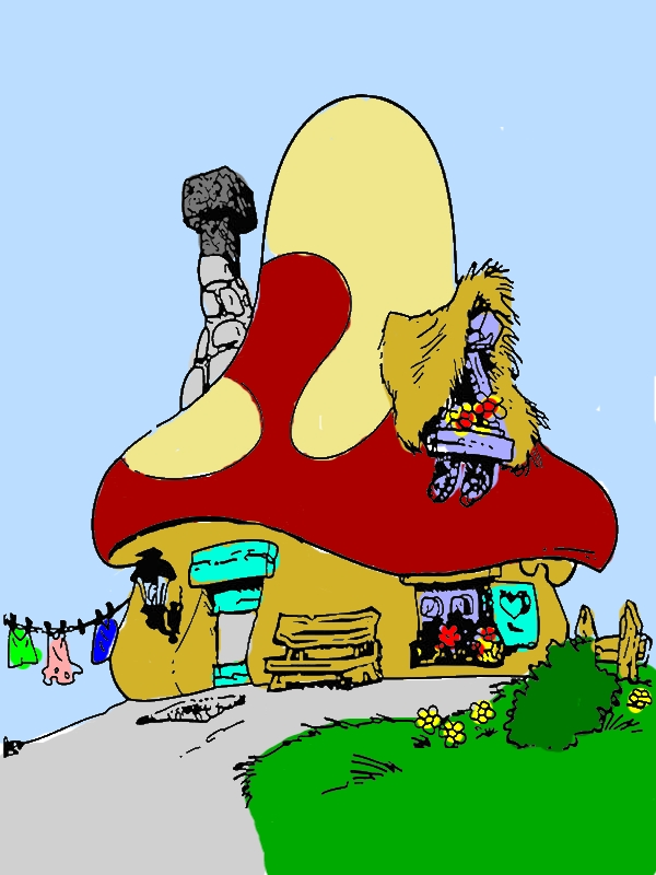 Smurf House in Houses Coloring Page by years old Timothy P  Hodge