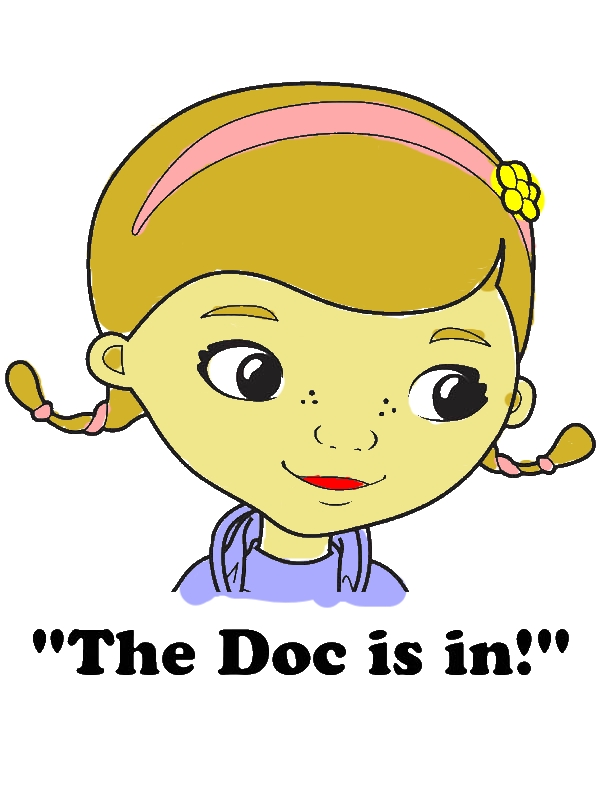 The Doc is in Doc McStuffins Coloring Page by years old Sharon A  Ames
